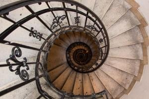 Spiral stairs in Saint Istvan Basilika in Budapest