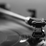 Vinyl record playing over and over and over